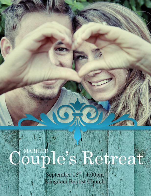 married couples retreat flyer template kingdom business